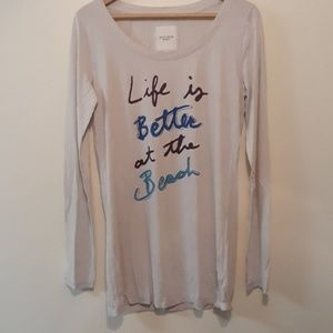 Gilly Hicks Life is Better at the Beach Tee